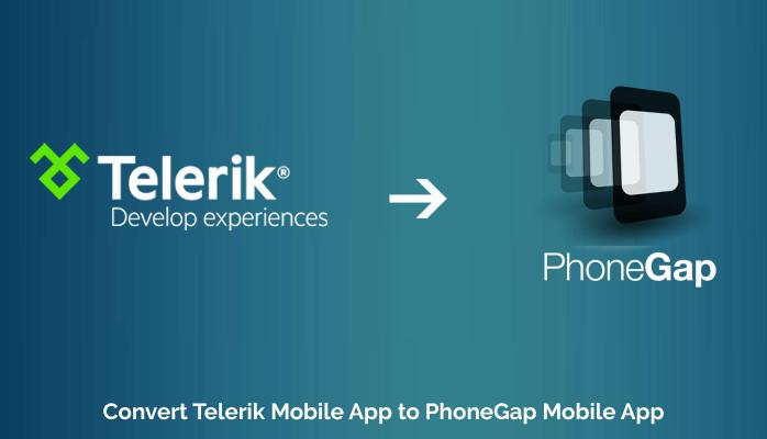 Convert Telerik Mobile App to PhoneGap Mobile App