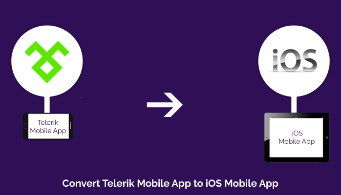 Convert Telerik Mobile App to iOS Mobile App