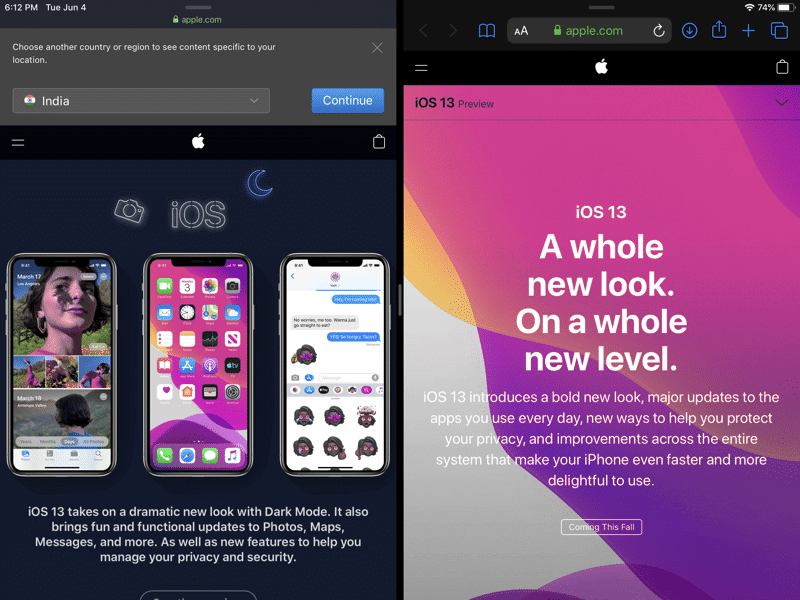 Open Two Split Windows From The Same App