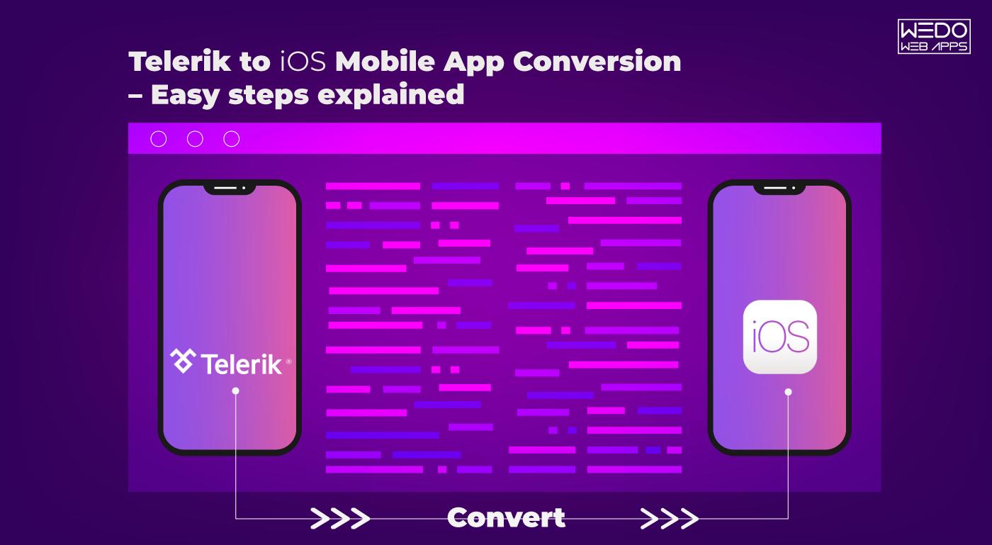 Convert Telerik Mobile App to iOS Mobile App