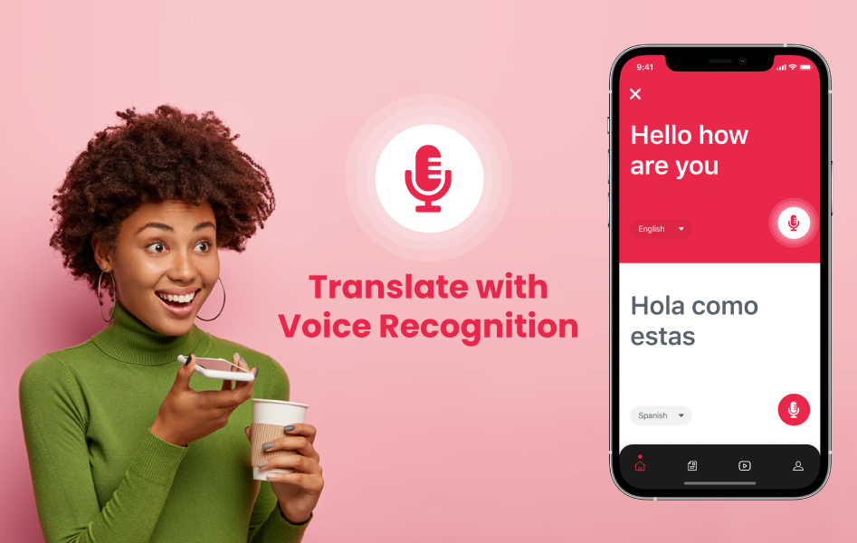 Translating the language from voice input