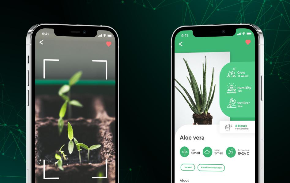 Guiding app for your garden