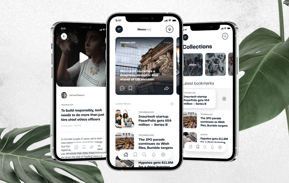 Videos and news apps