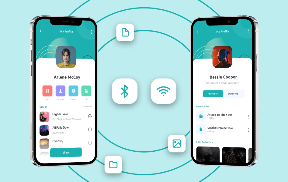 File sharing based on the proximity of devices