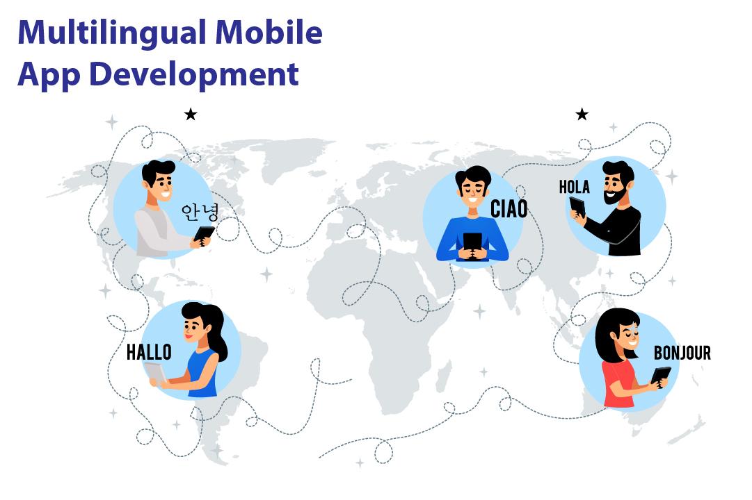 Multilingual mobile app